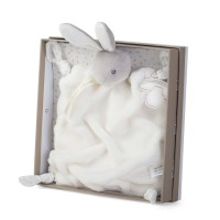Plume Cream Rabbit Doudou