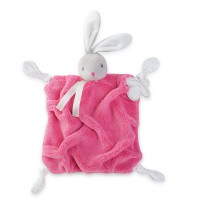 Plume Raspberry Rabbit Doudou